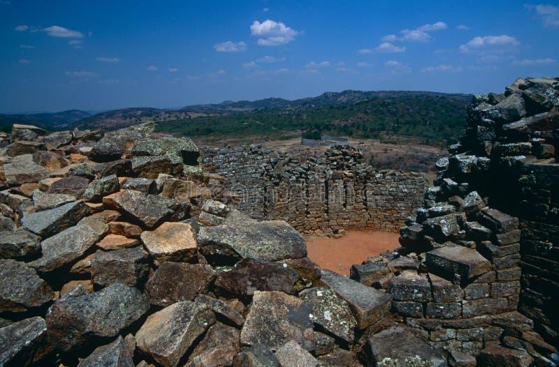 Wielkie Zimbabwe ruiny. zdjęcia stock