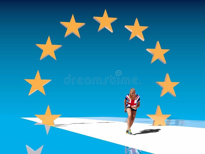 Wielkiego Brytania i Europejskiego zjednoczenia związki Brexit metafora obrazy stock