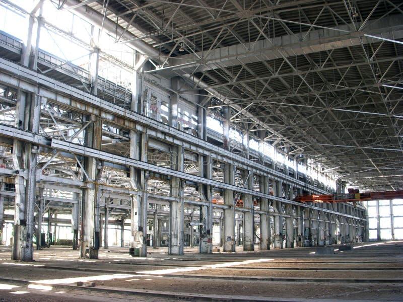 wielkiego budynku pusty przemysłowe zdjęcia stock