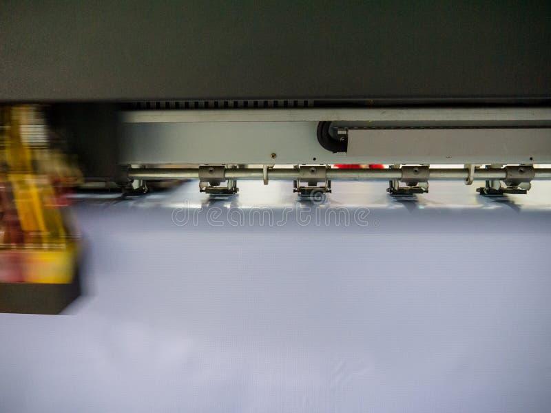 Wielkiego formata drukowa maszyna funkcjonuj?ca zdjęcia stock