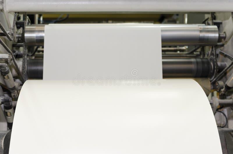 Wielkiego papieru rolki druku maszyna zdjęcie royalty free