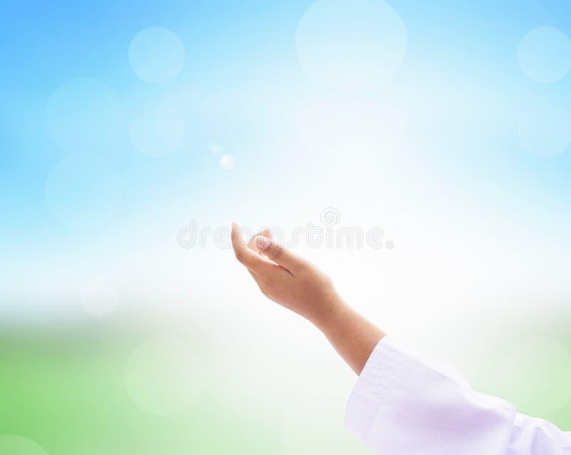 Wielkiego Piątku pojęcie: ilustracja jezus chrystus krzyżowanie na wielkim piątku zdjęcie stock