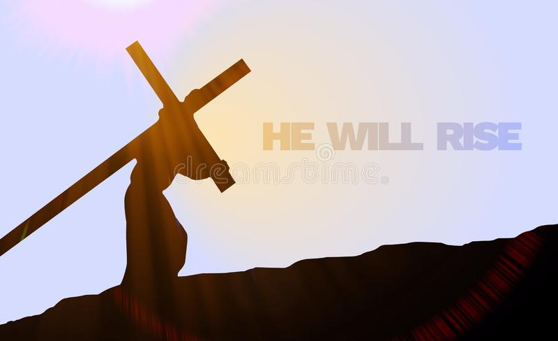 Wielkiego Piątku, Wielkanocnej Niedzieli tła wizerunek/ ilustracja wektor