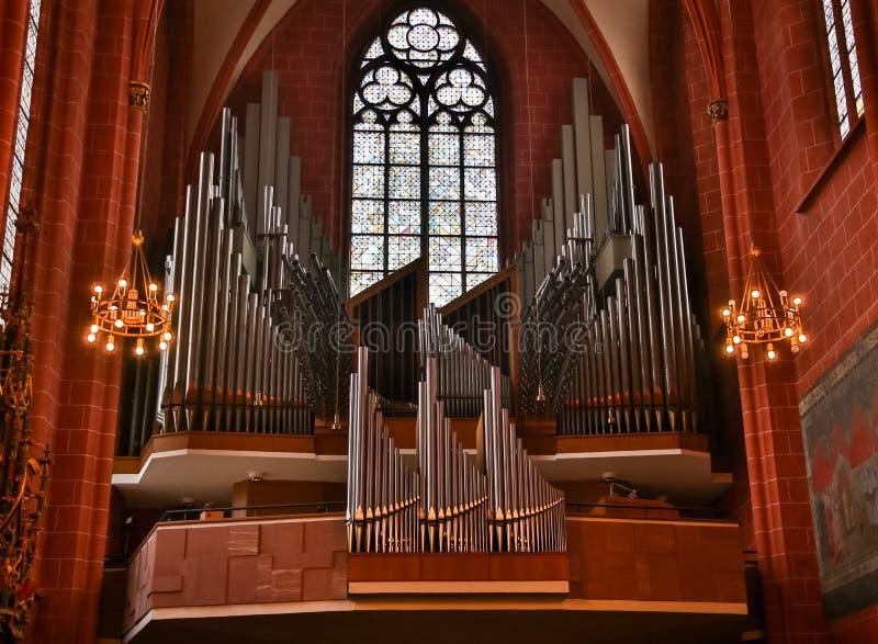 Wielkiego xix wiek Fajczany organ lokalizować w starym kościół metodystów, obrazy royalty free