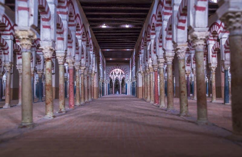 Wielkiej cordoby Meczetowy szalkowy model indoors obraz stock
