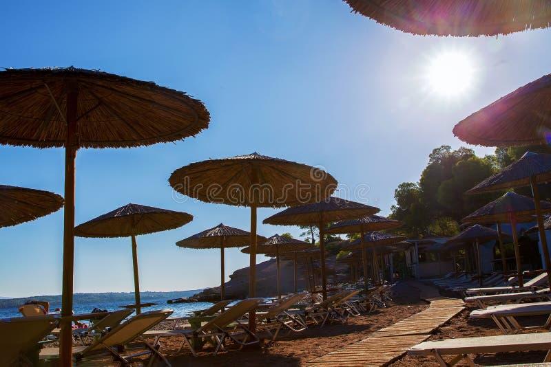 Wielkoduszny słońce Greece fotografia royalty free