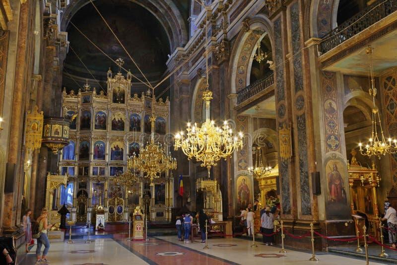 Wielkomiejska katedra fotografia royalty free