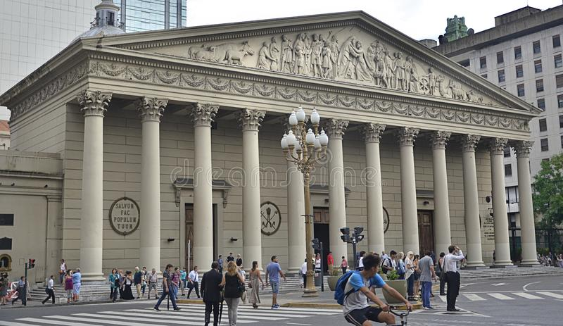 Wielkomiejska katedra Buenos Aires, Argentyna fotografia royalty free