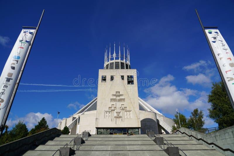 Wielkomiejska katedra Christ królewiątko Liverpool obrazy stock