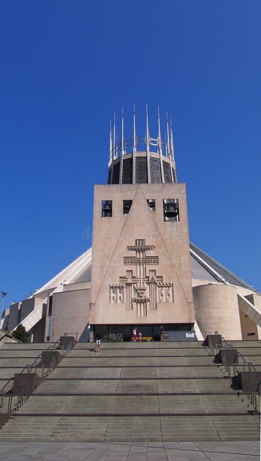 Wielkomiejska katedra Chrystus królewiątko, Liverpool obraz stock