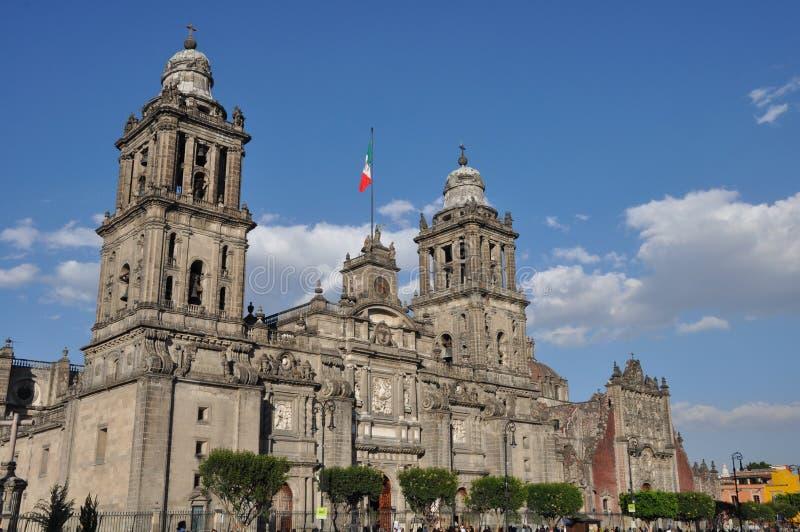 Wielkomiejska katedra w Meksyk zdjęcia royalty free