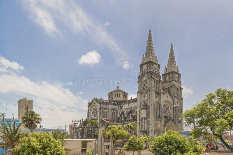 Wielkomiejski Katedralny Fortaleza Brazylia fotografia stock