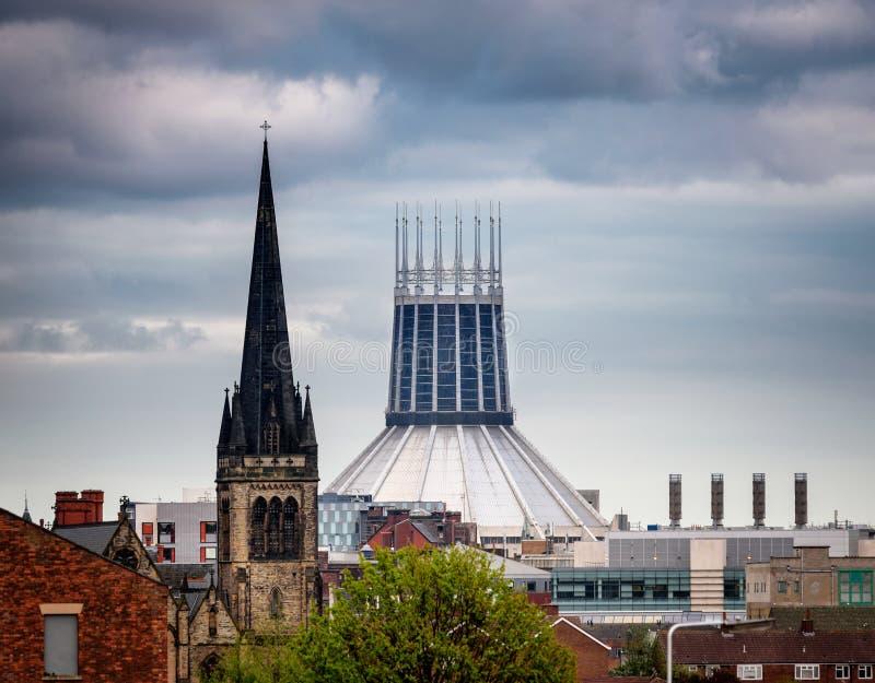 Wielkomiejski Katedralny Liverpool UK zdjęcie royalty free
