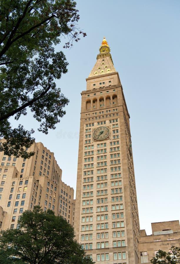 Wielkomiejskiego życia Zegarowy wierza w Nowy Jork obrazy royalty free