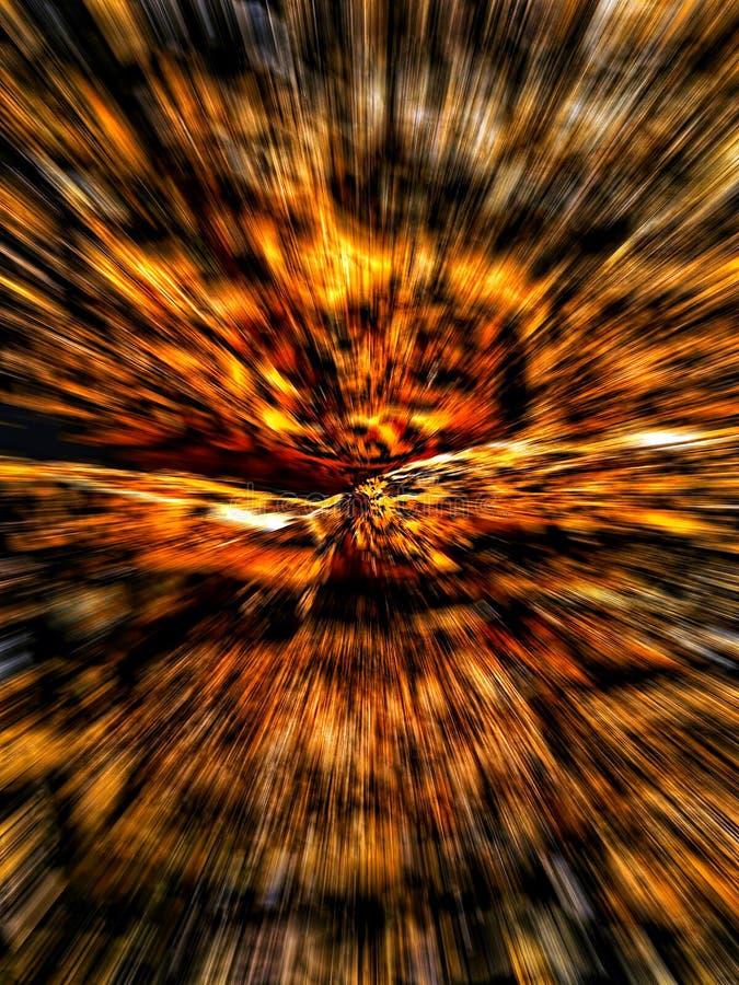 Wielo- barwioni abstrakcjonistyczni tła, koloru żółtego i pomarańcze paski, osnowowy skutek, cyfrowa ilustracja ilustracji