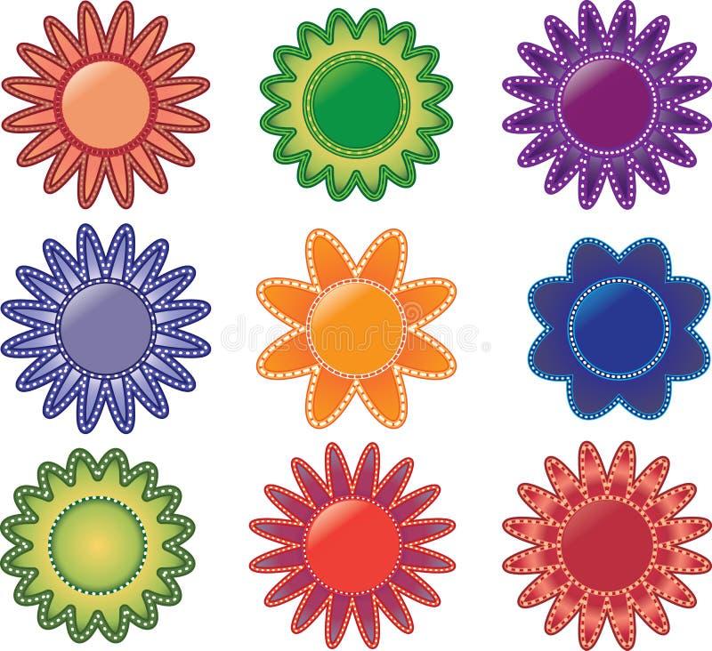 wielo- barwioni kwiaty ilustracji