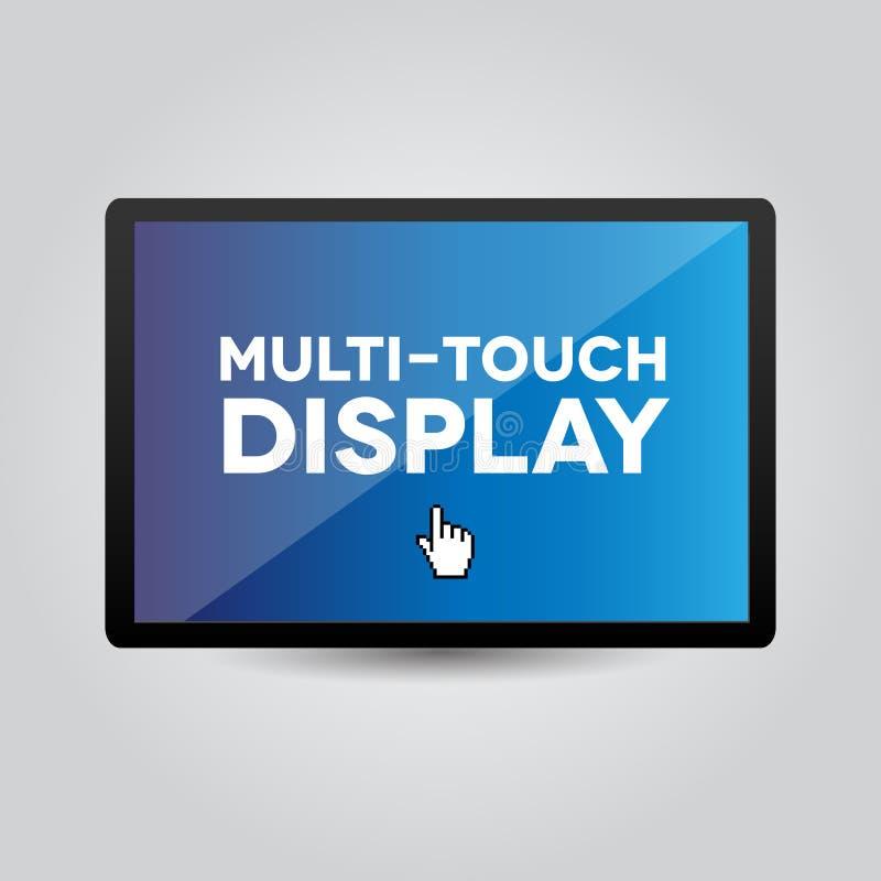 Wielo- dotyka pokaz na pastylce lub smartphone royalty ilustracja