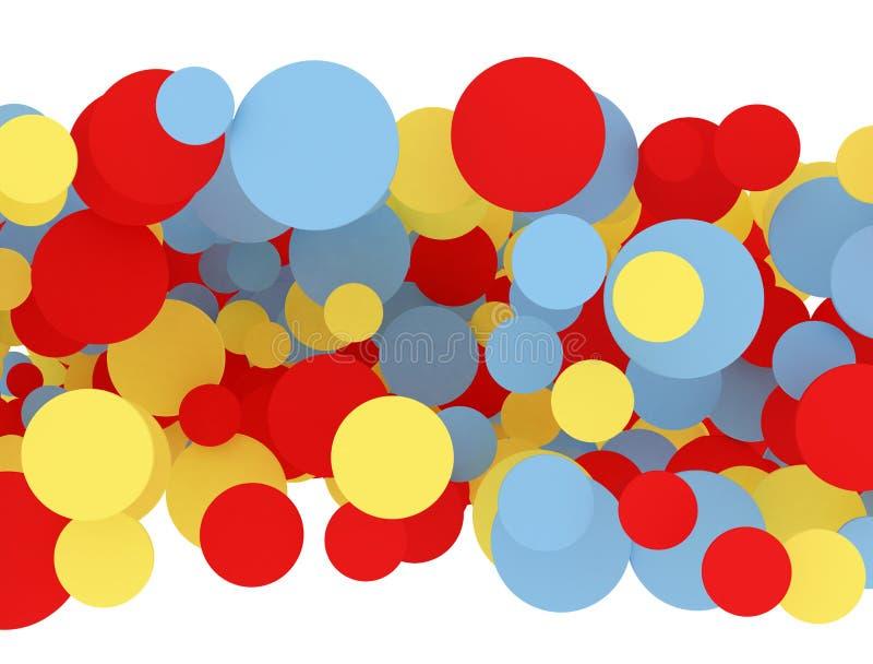 Wielo- kolorów okręgi ilustracji