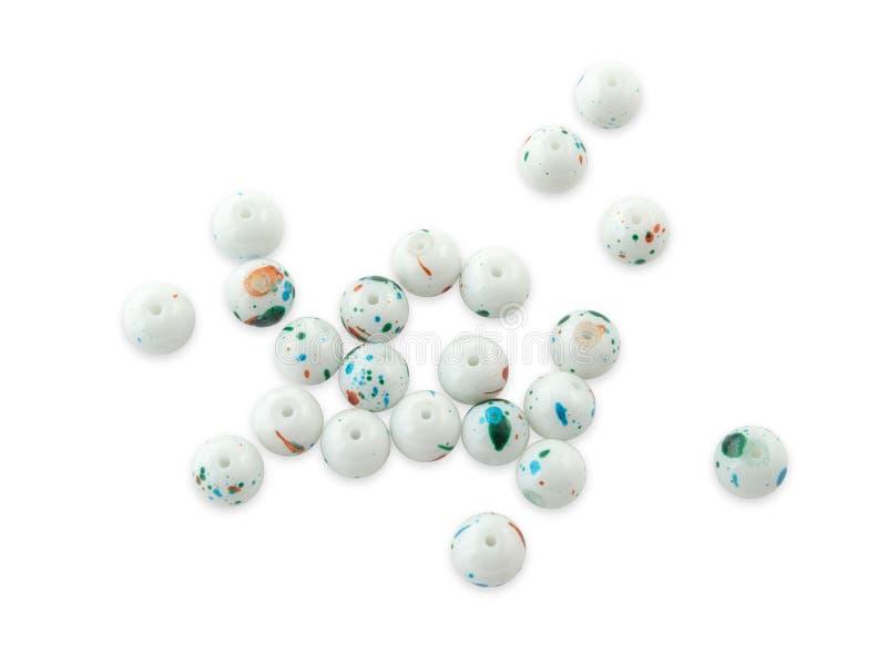 Wielo- kolor tonujący kwarcowy gemstone odizolowywający na białym tła zakończeniu up zdjęcie stock