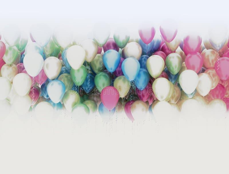 Wielo- kolor?w balony ilustracji
