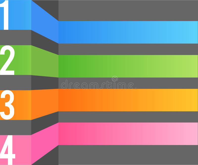 Wielo- koloru projekta szablon ilustracji