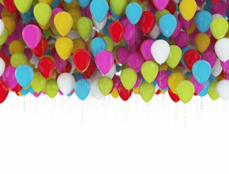 Wielo- koloru przyjęcia balony royalty ilustracja