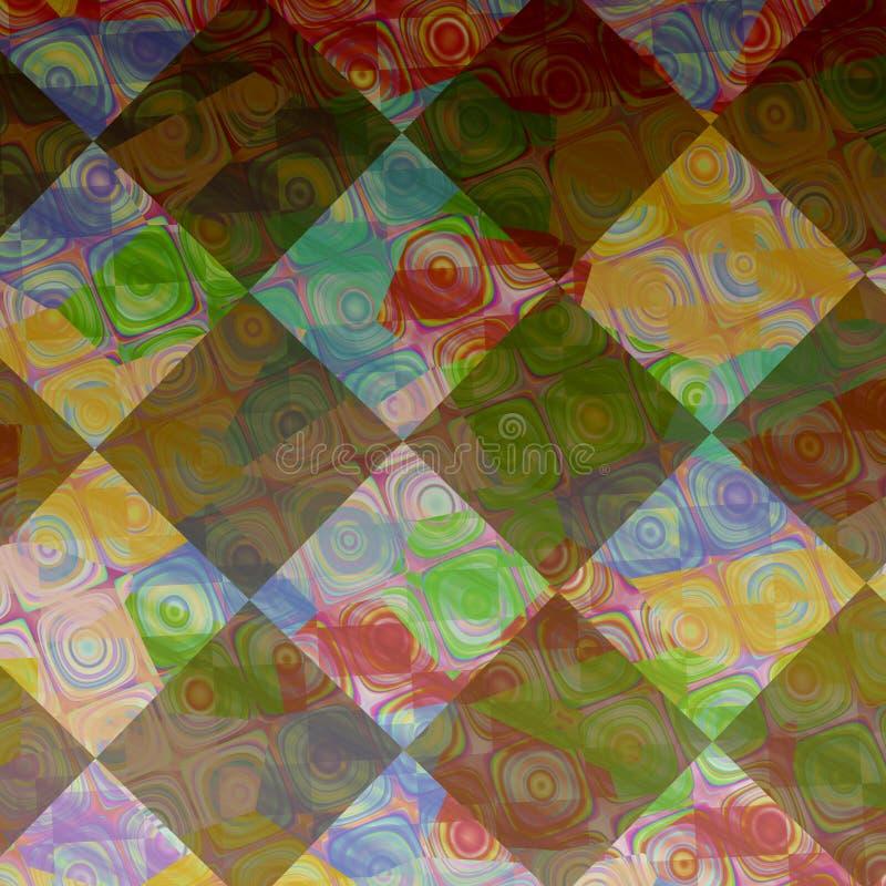 Wielo- koloru zatarci tła obrazów confetti ilustracji