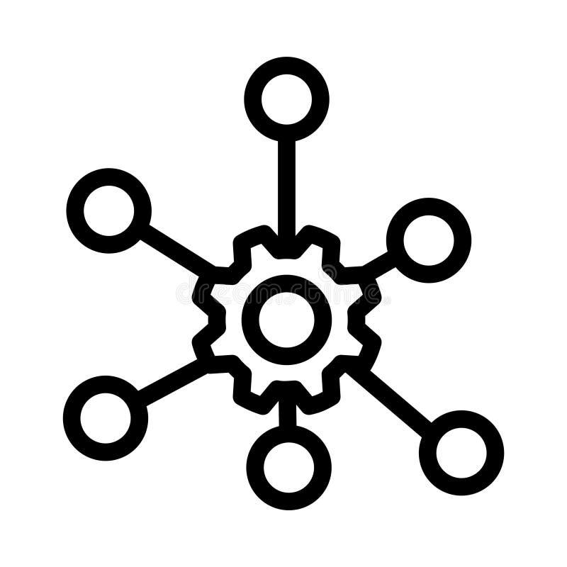Wielo- korytkowa ikona, wektorowa ilustracja royalty ilustracja