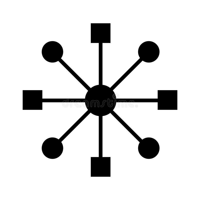 Wielo- korytkowa ikona, wektorowa ilustracja ilustracji