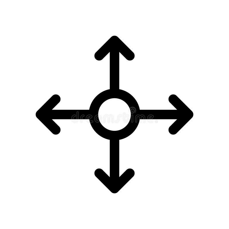Wielo- korytkowa ikona, wektorowa ilustracja ilustracja wektor