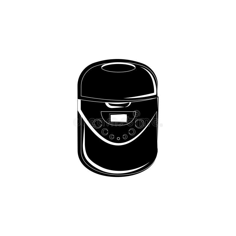Wielo- kuchenki ikona Multivarka zdjęcia stock