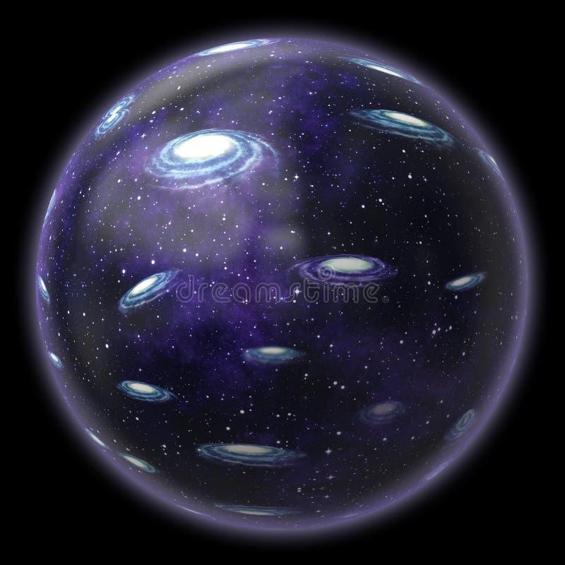 Wielo- universum royalty ilustracja