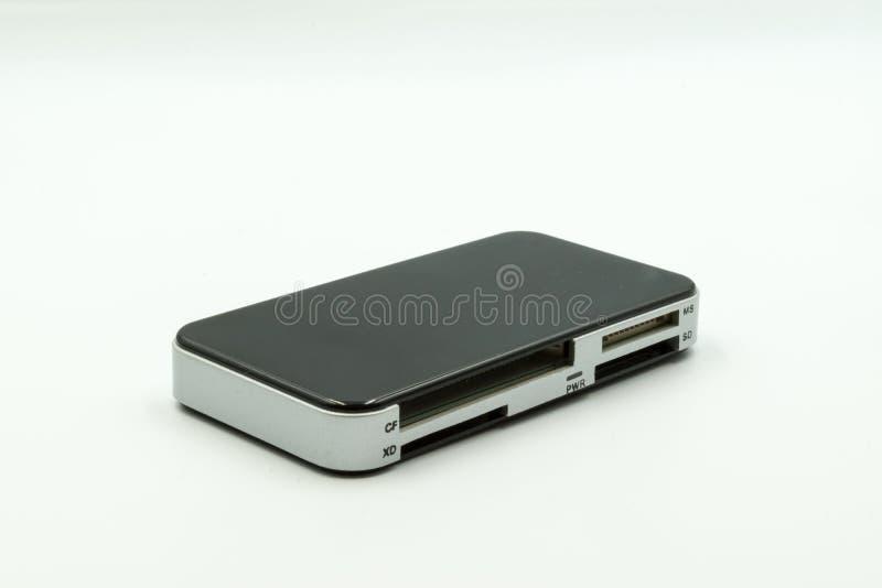 Wielo- USB czytelnika porty dla kilka kart fotografia stock