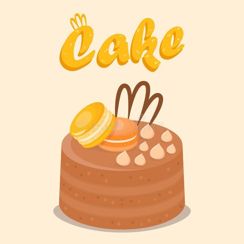 Wielo- warstwa torta Płaskiej kreskówki Ogólnospołeczny medialny sztandar ilustracja wektor