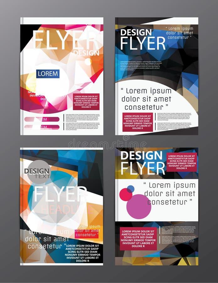 Wielobok broszurki układu projekta Nowożytny szablon Ulotki ulotki cov ilustracji