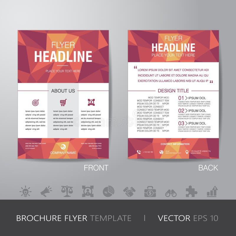 Wielobok broszurki ulotki projekta układu biznesowy szablon w A4 siz ilustracji