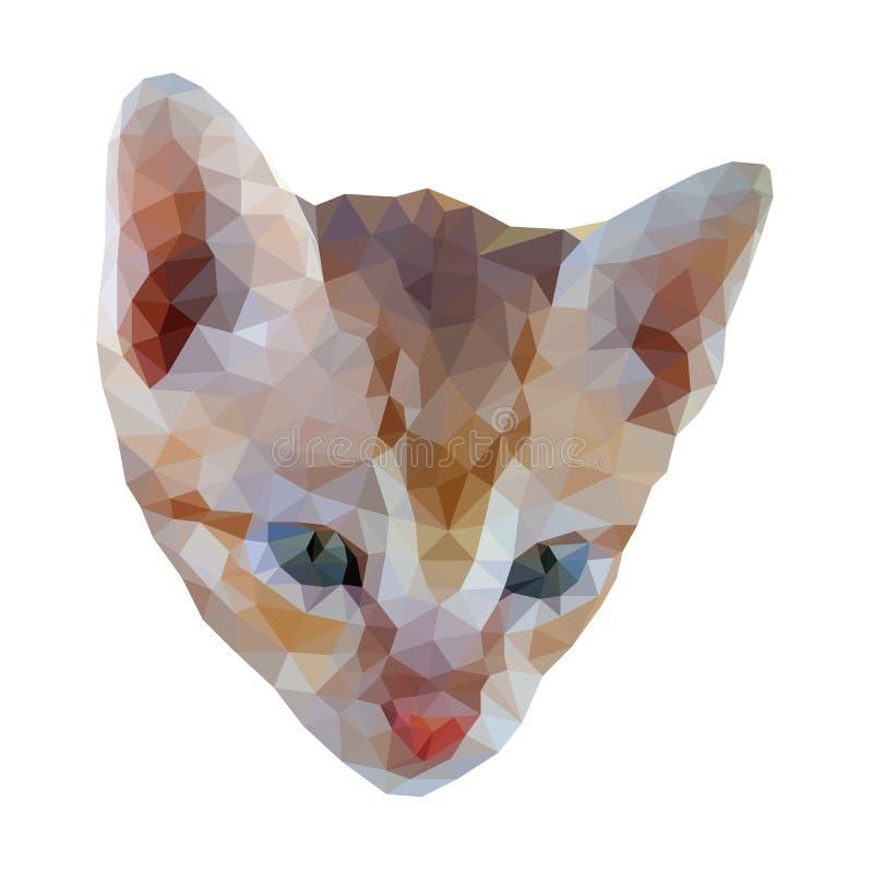 wieloboka kota twarz royalty ilustracja
