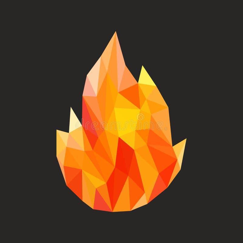 Wieloboka ogienia płomień płonie naturalnego i abstrakcjonistycznego royalty ilustracja