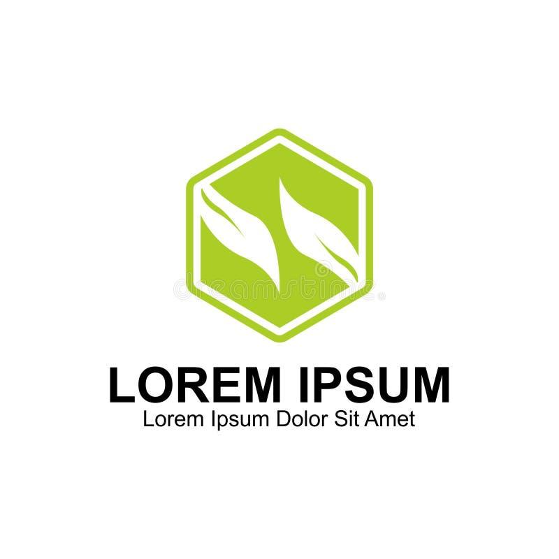 Wieloboka S list Opuszcza logo ilustracja wektor