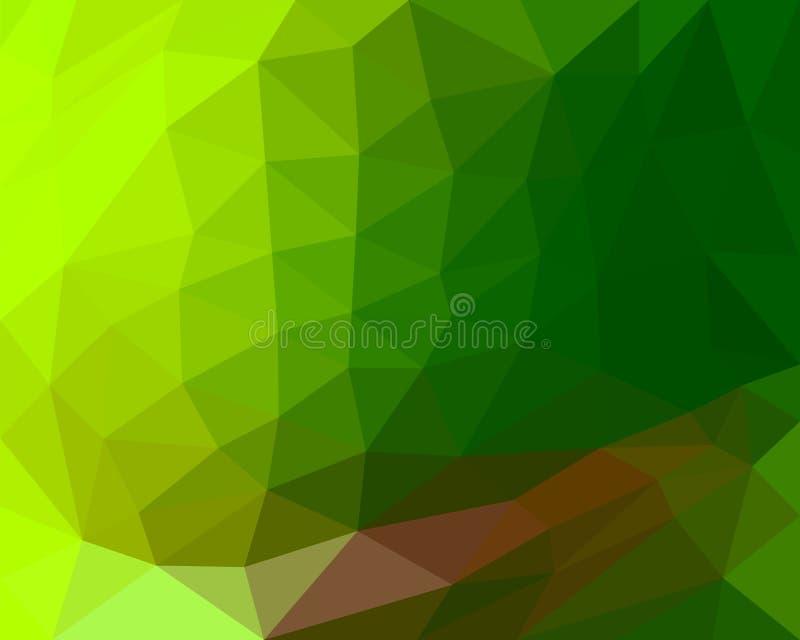 Wieloboka tła koloru gradientu zieleni piękny odcień ilustracji