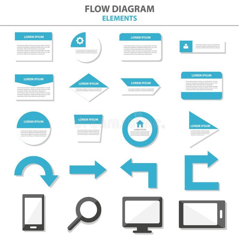 Wielocelowi Infographic elementy i ikony prezentaci szablonu płaski projekt ustawiają dla reklamowej marketingowej broszurki ulot royalty ilustracja