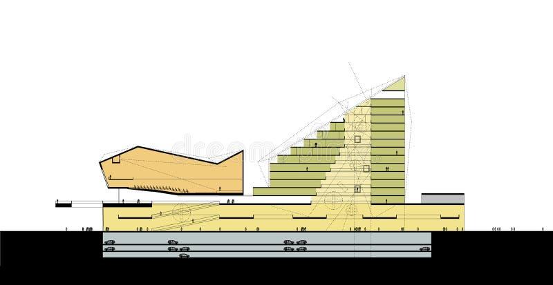 Download Wielofunkcyjna Centre Sekcja Ilustracja Wektor - Ilustracja złożonej z budynek, wytwarza: 13332444