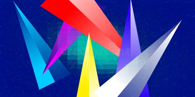 Wielokolorowy obraz tła wygenerowany przez komputer z efektem świetlnym i błyszczącym do projektowania tapety royalty ilustracja