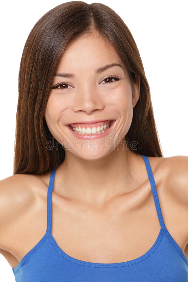 Wielokulturowej kobiety szczęśliwy portret fotografia royalty free