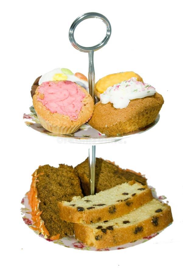 wielopoziomowa ciasto taca dwa zdjęcie stock