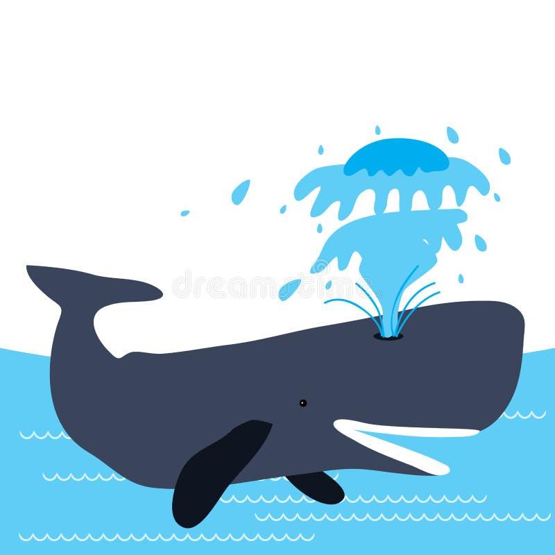 Wieloryb szczęśliwy ilustracja wektor
