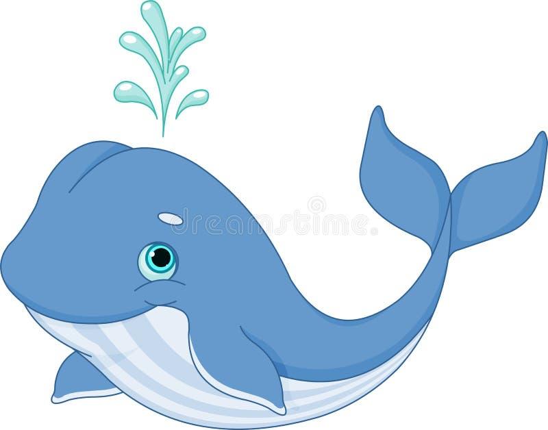 Wielorybia kreskówka royalty ilustracja