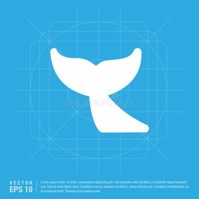 Wielorybia ogon ikona ilustracji