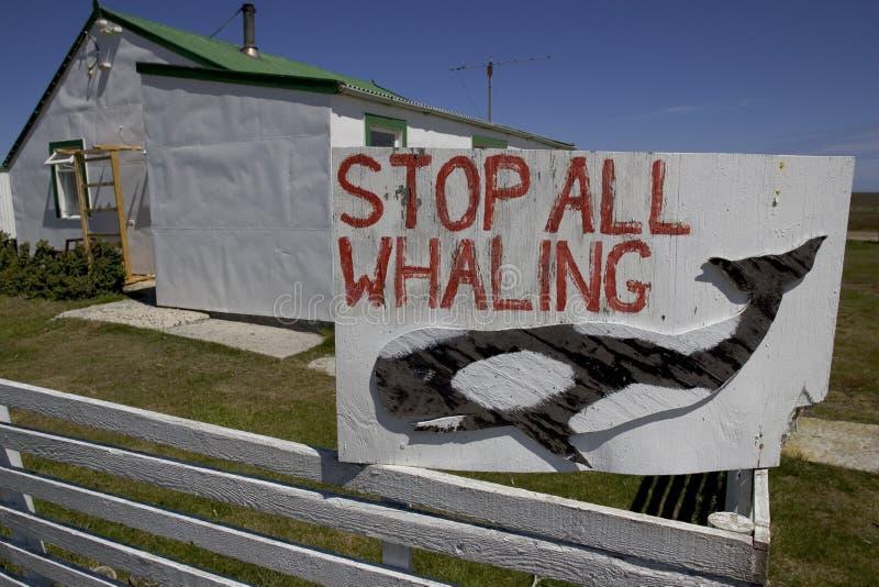 Wielorybnictwo znak, obrazy stock