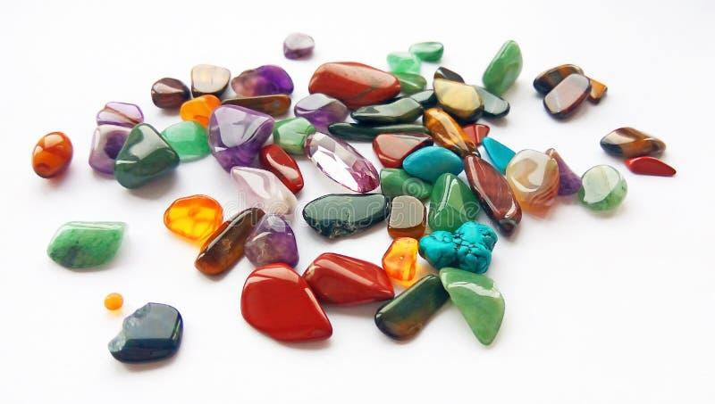 Wieloskładnikowi jaskrawi coloured semi cenni gemstones i klejnoty dla dekoracji zdjęcia stock